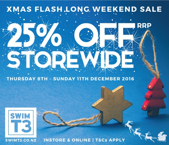 SwimT3 Xmas Flash Long Weekend Sale